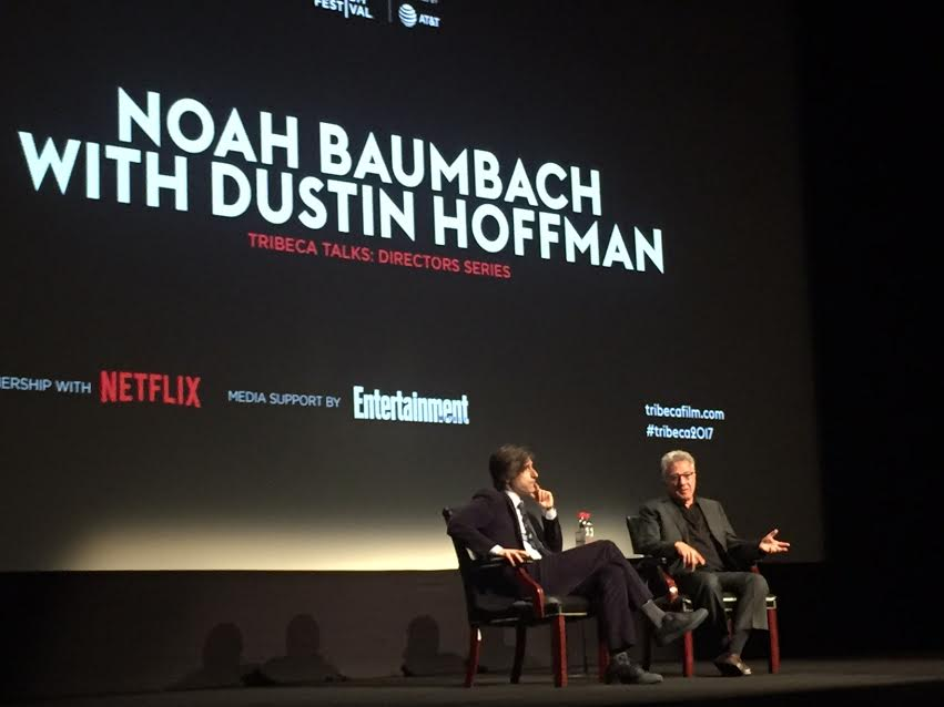 Noah Baumbach with Dustin Hoffman