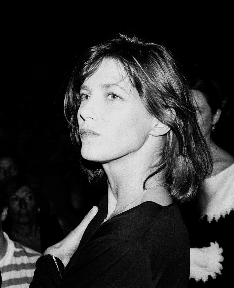 englsh actress and singer Jane Birkin in 1985 at the American film festival in Deauville, Normandie, France