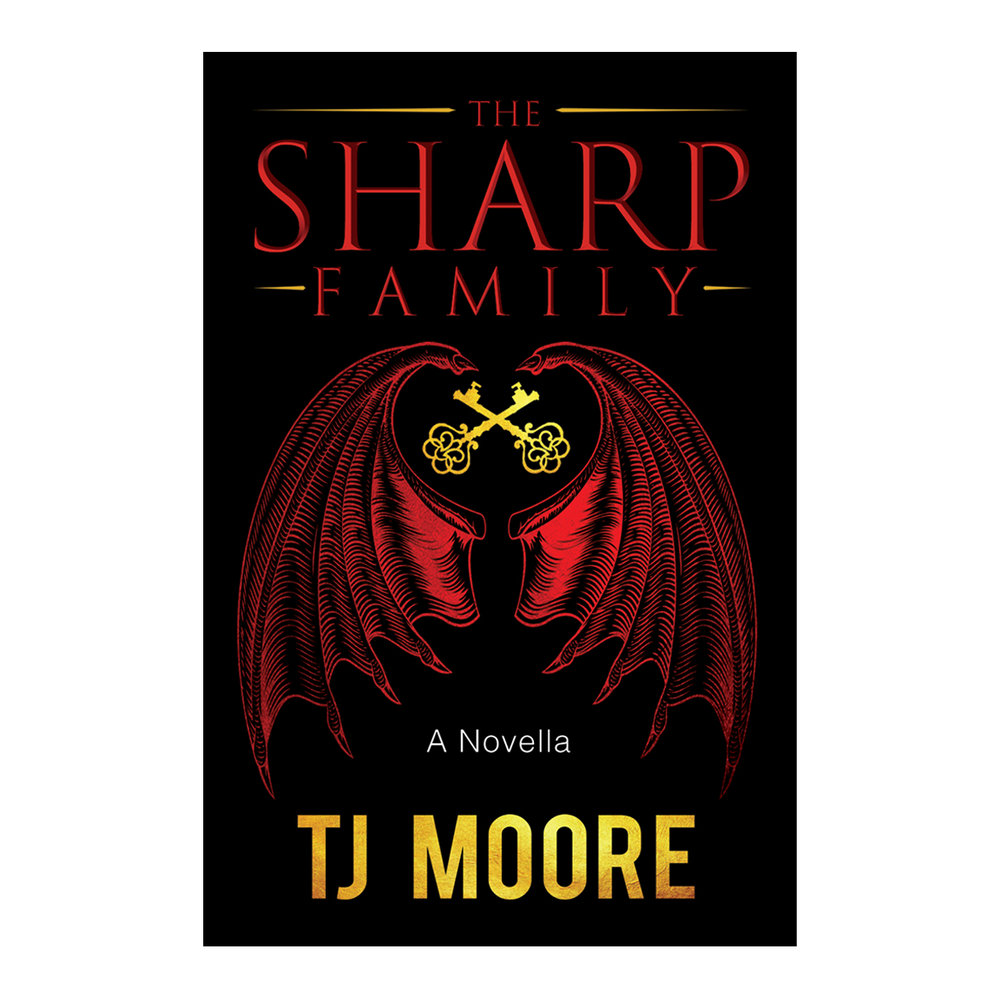 The Sharp Family - A Novella - Paperback, Audio Book, and eBookThis suspenseful novella features a family trio, creatures of night, each searching for their purpose beyond the lust for blood: fashion, sculpture, and ancient mysteries. When a teenage girl named Jezebel investigates strange occurrences in her city, she discovers chilling revelations locked within the walls of their ominous house. She wants to be one of them. But some family secrets are exclusive . . . and dangerous.
