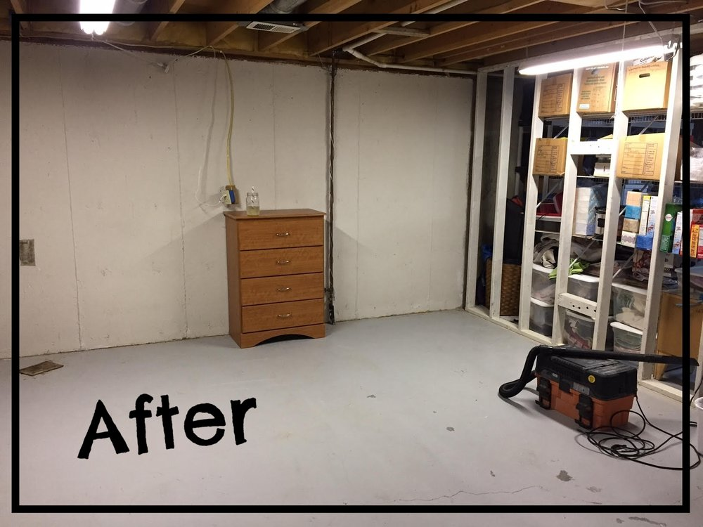 after picture of a decluttered room