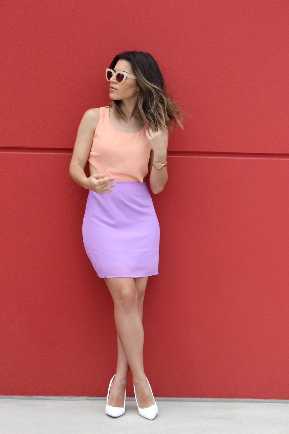 Dress - ShopTobi// Shoes - DSW//Watch - Fossil//Sunnies - Sunglasspot.com