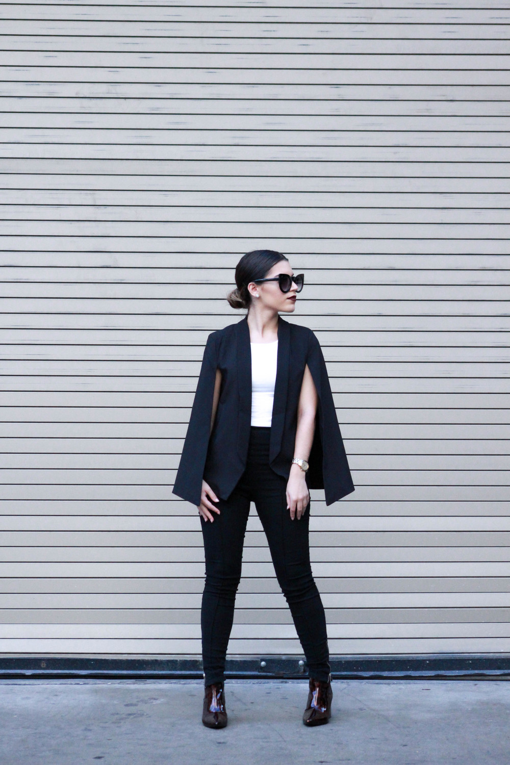 sunglasses SunglassSpot // Blazer GoJane // Top & Pants Forever21 // Booties Zara
