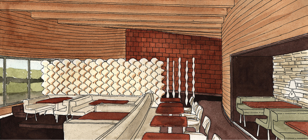 Dining Room Watercolor Study