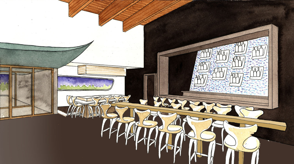 Watercolor Rendering of Bar