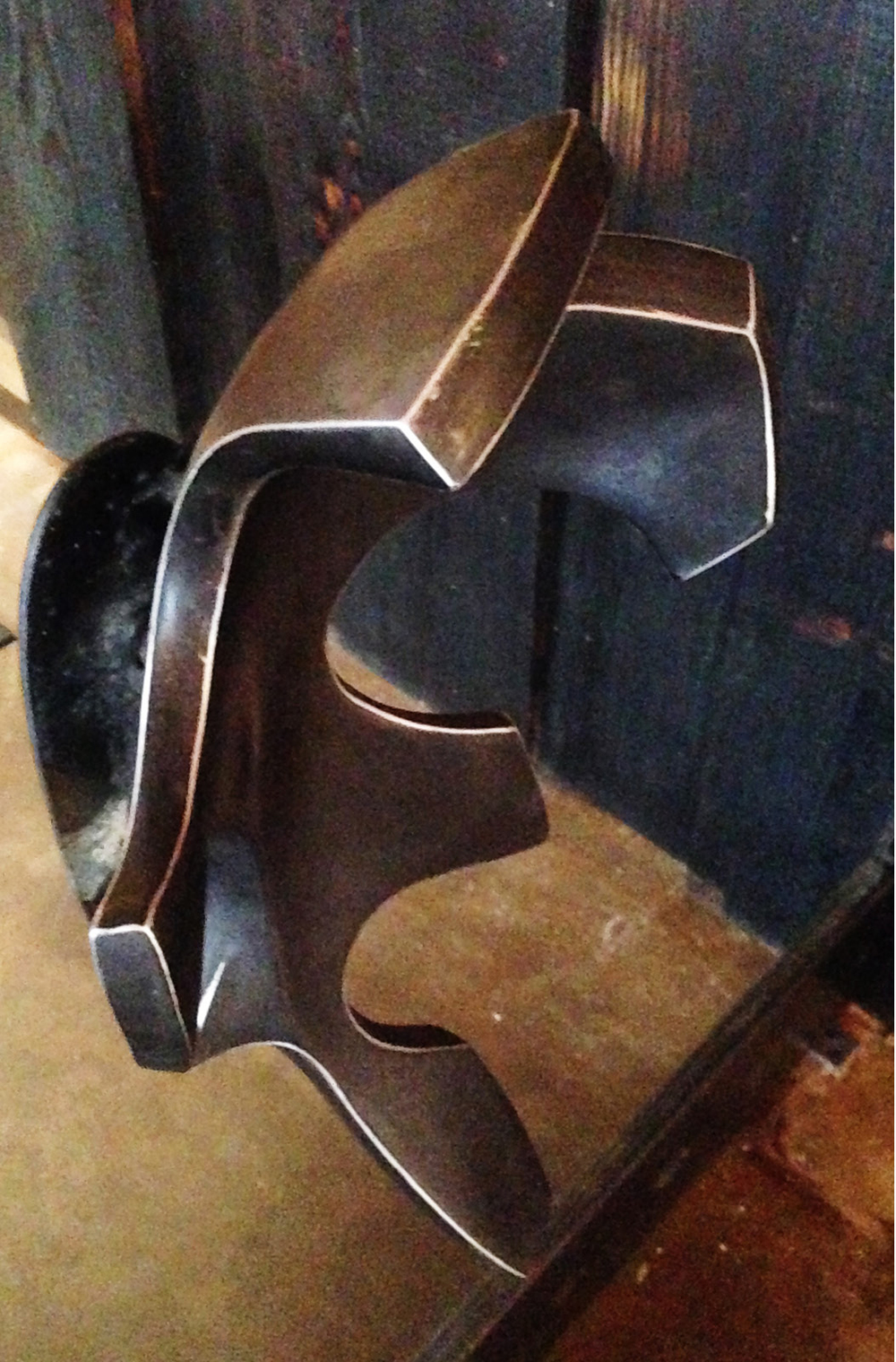 Aluminum Oak Leaf Door Handle