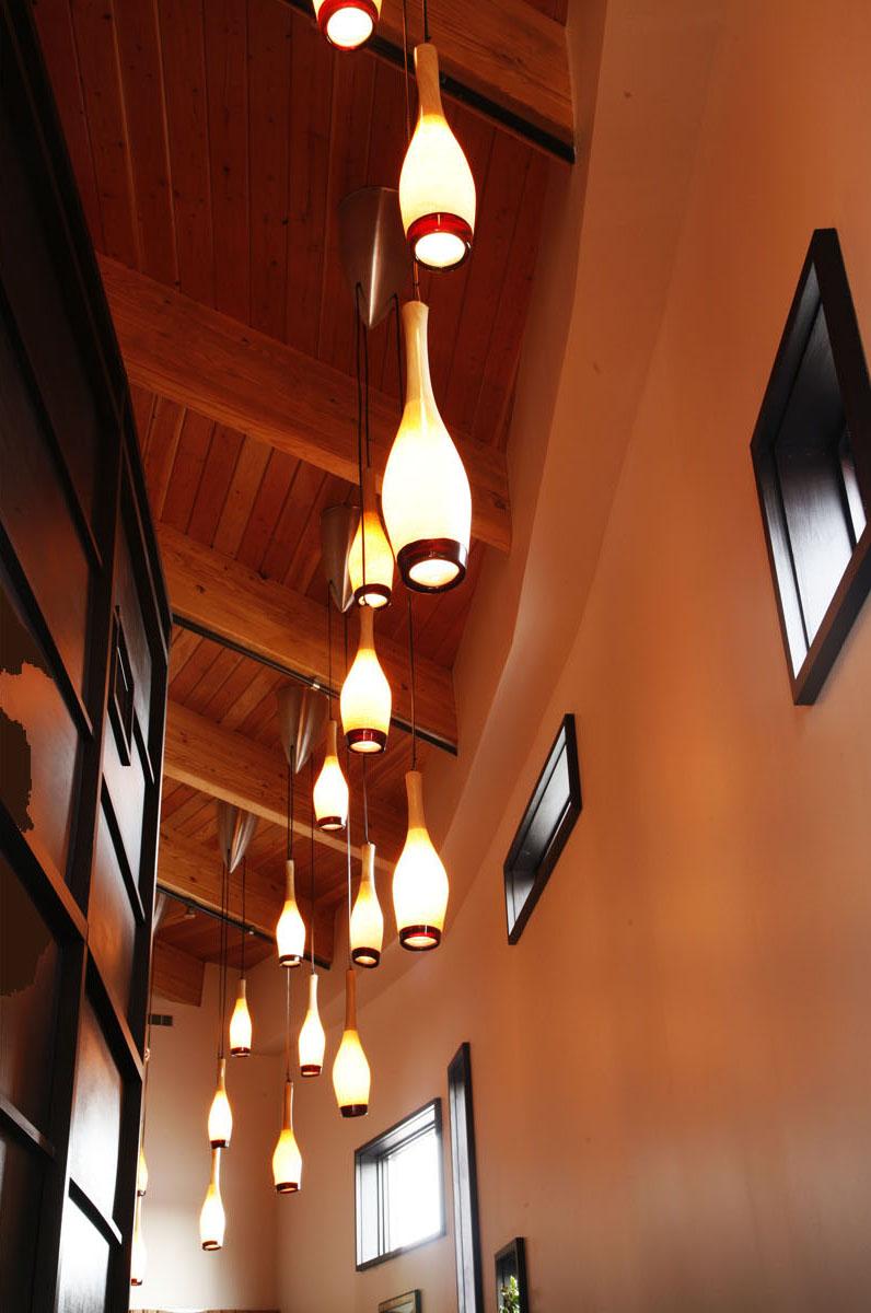 Chandeliers in Hallway