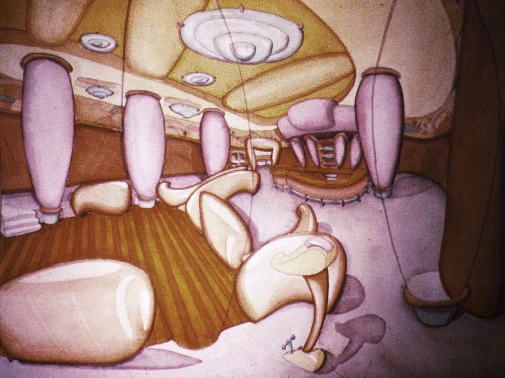 Watercolor Interior Study