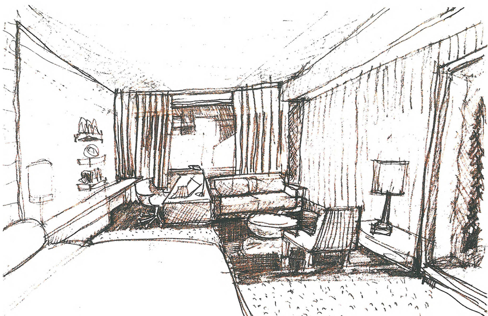Hotel Room Watercolor Study