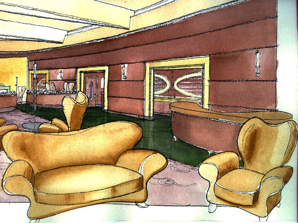 Lobby  Watercolor Study
