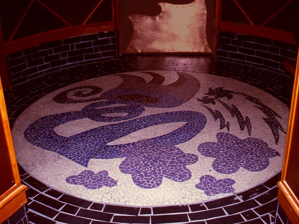 Mosaic Floor at Entry