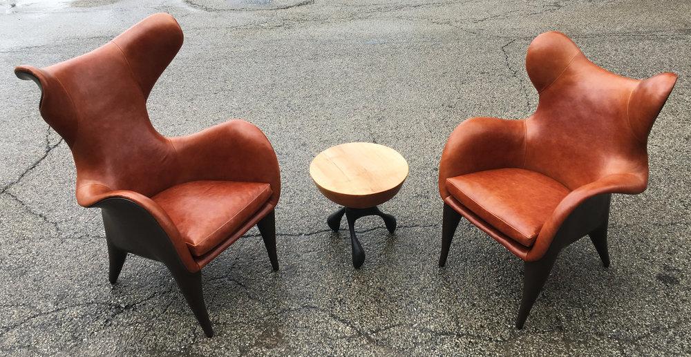 Frankie Chair At Americas Restaurant In Houston