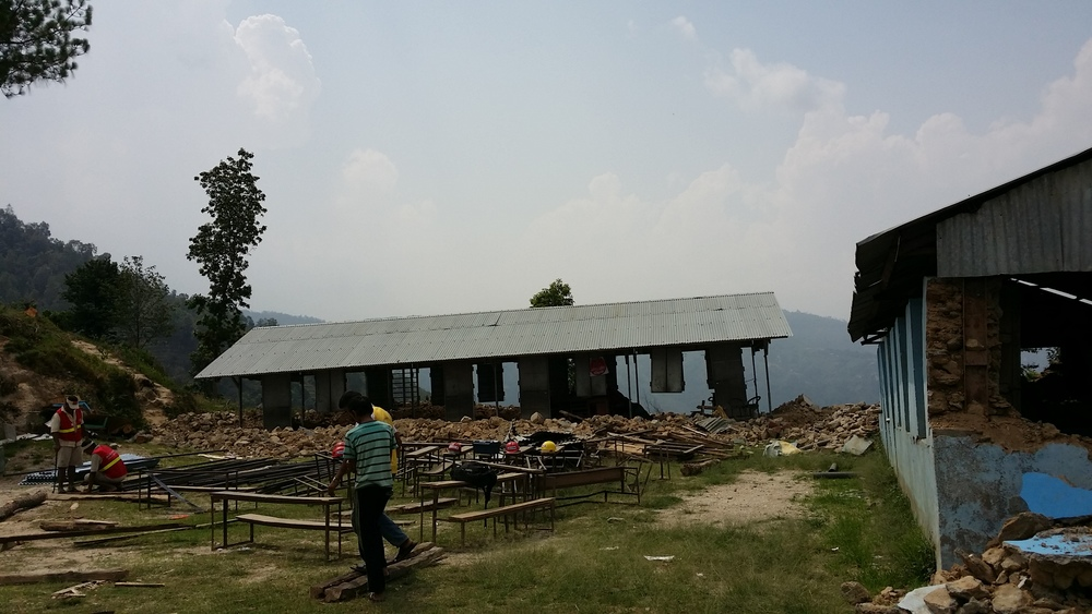 Secondary School building, post-earthquake