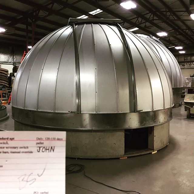 Our Compass Rose Lodge Ash Dome Observatory Dome is complete.  So excited! #darksky