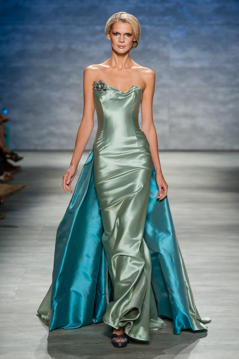 Strapless Taffeta Dress