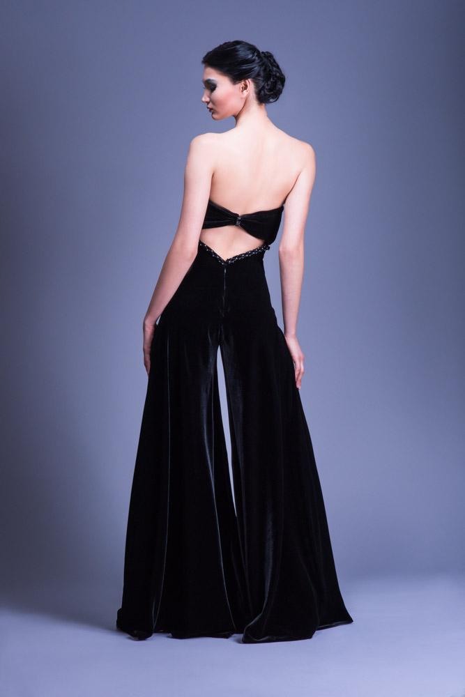 Annabelle black velveteen jumper long empire waist amiture lesbian sex