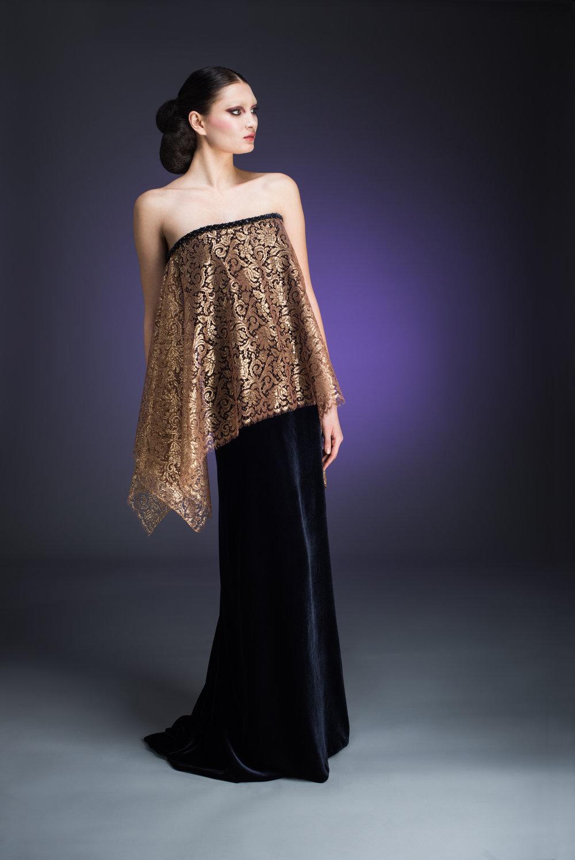 Indigo Strapless Dress