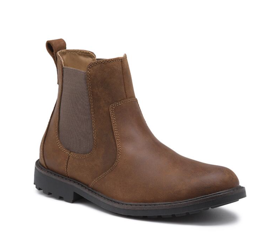 BOOTS! BOOTS! AND MORE BOOTS! Tell him to stop being boring with some simple sneakers, and put style back in his life!Match this ankle high boot, with a dark denim jean, rolled up at the bottom to emphasize the G. H. Bass & Co. boot.