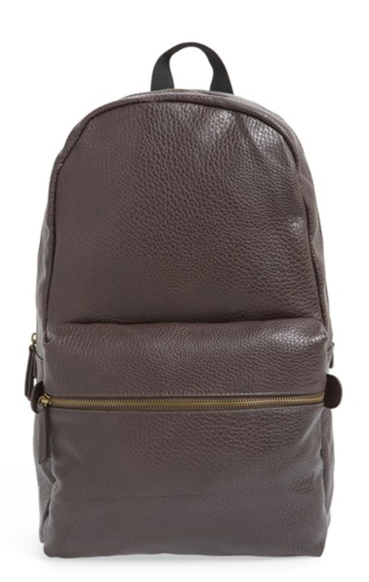 Every guy needs a backpack! They just don't know it yet. So pick up this Topman by Nordstrom Leather backpack, and show him what he is missing!