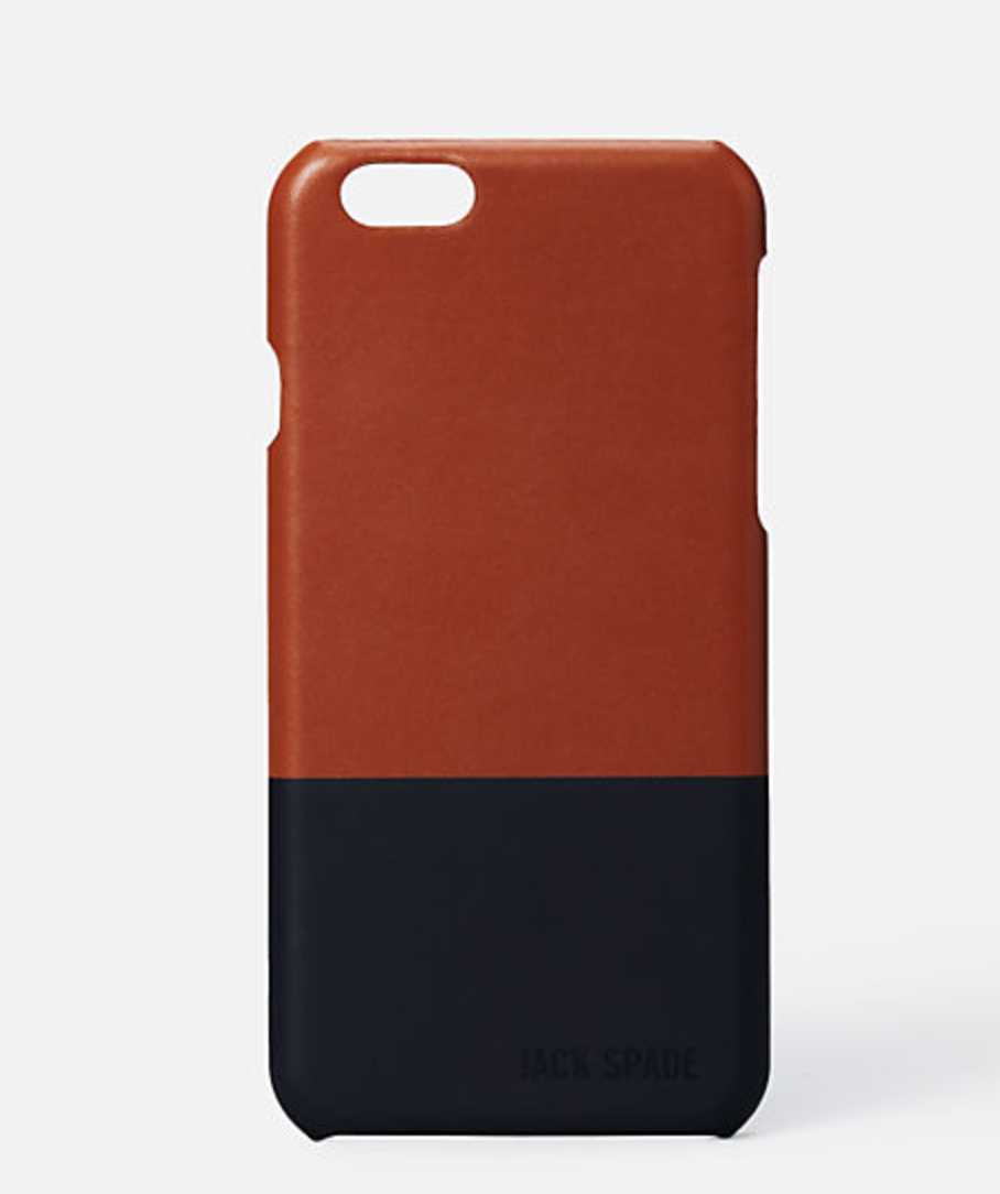 This Jake Spade iPhone case is perfect for any guy. This block, two tone leather phone case is easy to pair and protects his phone. What more can you ask for in a gift?