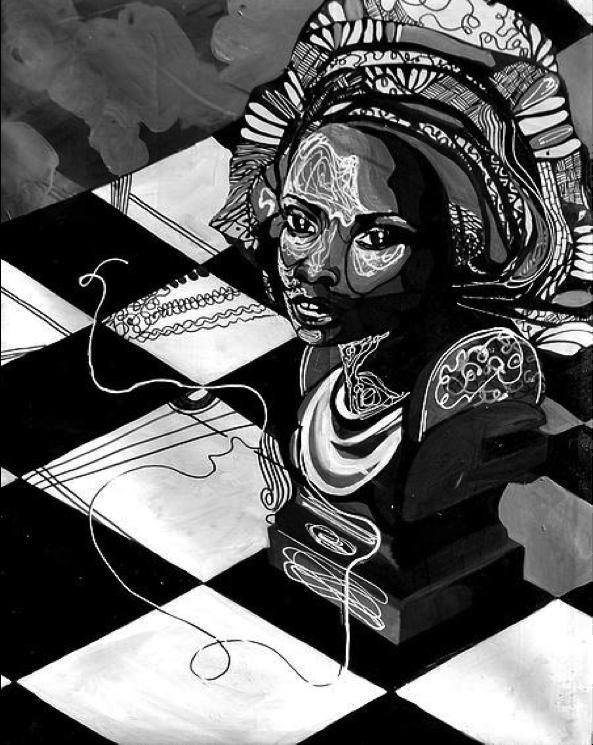 """Abike ,Acrylic on Canvas,30"""" x 44"""",2013"""