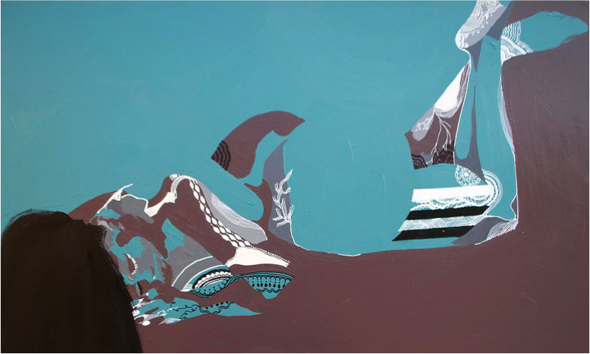 "Day Six ,Acrylic on Canvas,48'' x 36"",2014"