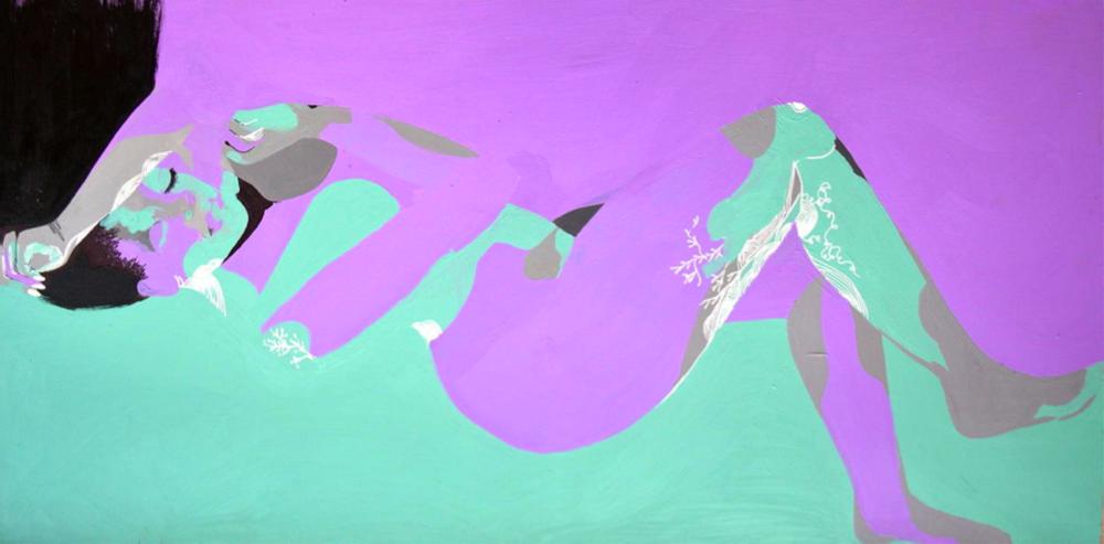"Day Three ,Acrylic on Canvas,48 x 36"",2014"