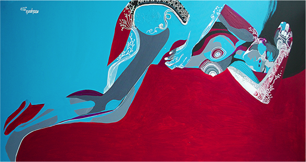 """Day Two ,Acrylic on Canvas,48'' x 36"""",2014"""