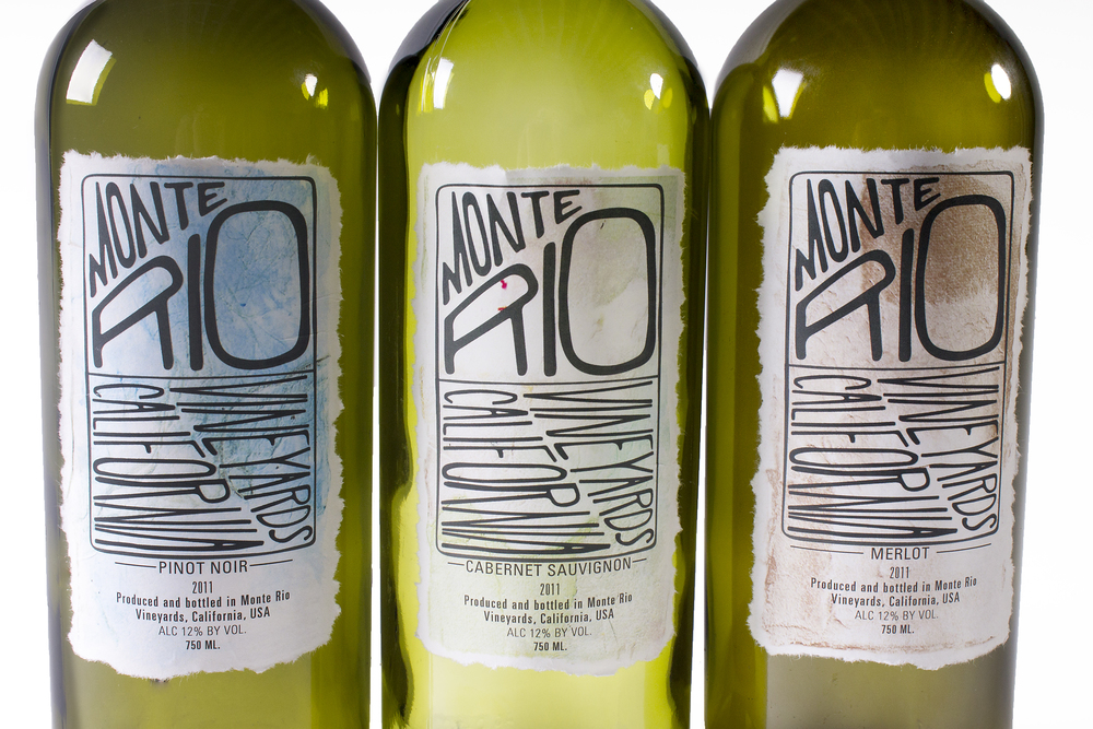 Monte Rio Wine Label  C R E A T E