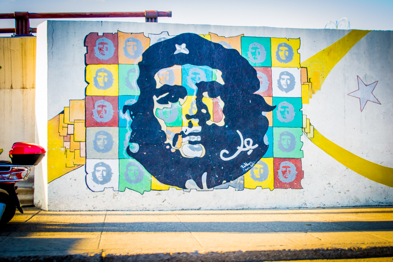 Murals of Che Guevada are found throughout Cuba