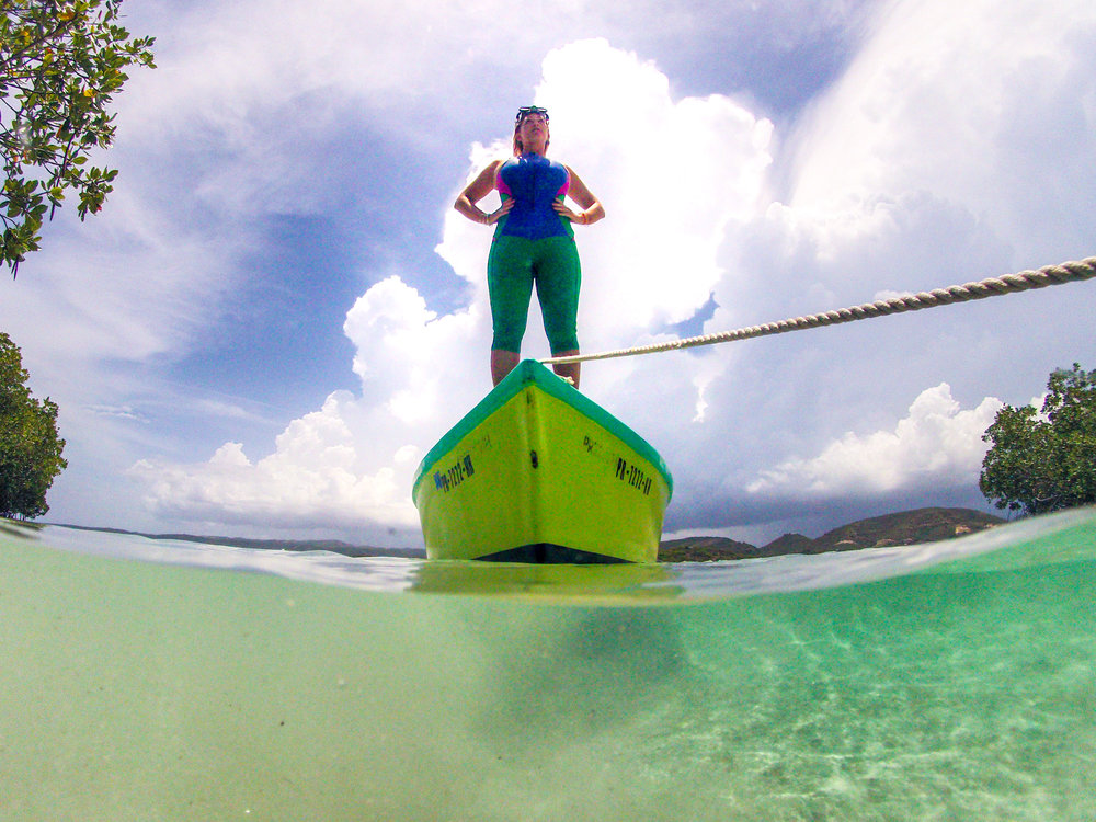 Feel like a super heroine while scouting for your next dive adventure.