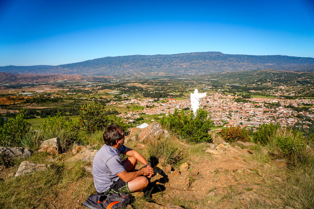 The best views of Villa de Leyva can be found from the Mirador el Santo.