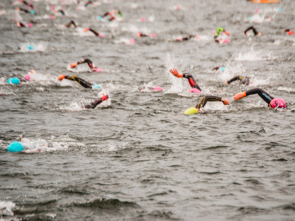 Thousands of athletes compete in the KMD Copenhagen Ironman every August.