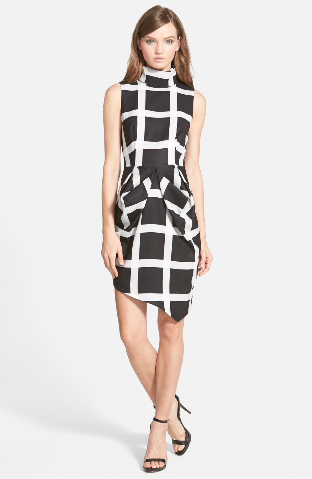 Windowpane Print Dress $168.00