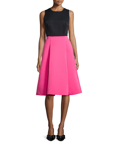 KATE SPADE Colorblock Bow-back fit-and-flare Dress $498