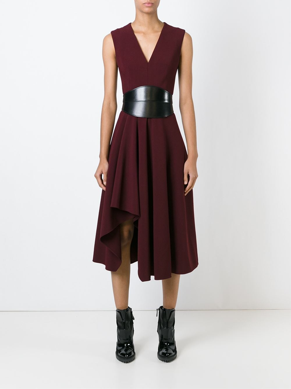 ALEXANDER MCQUEEN Asymmetric Drape Dress $2245
