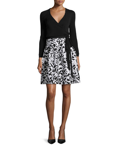 Diane von Furstenberg Jewel Leaf-Print Wrap Dress $548