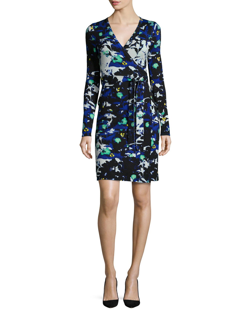 Diane von Furstenberg Leandra Leaf-Print Wrap Dress $468