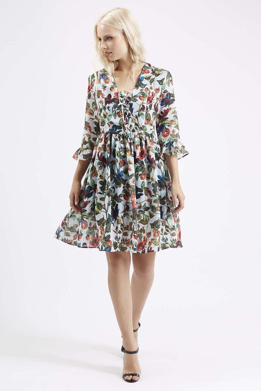 Topshop Garden Floral Print Dress $130