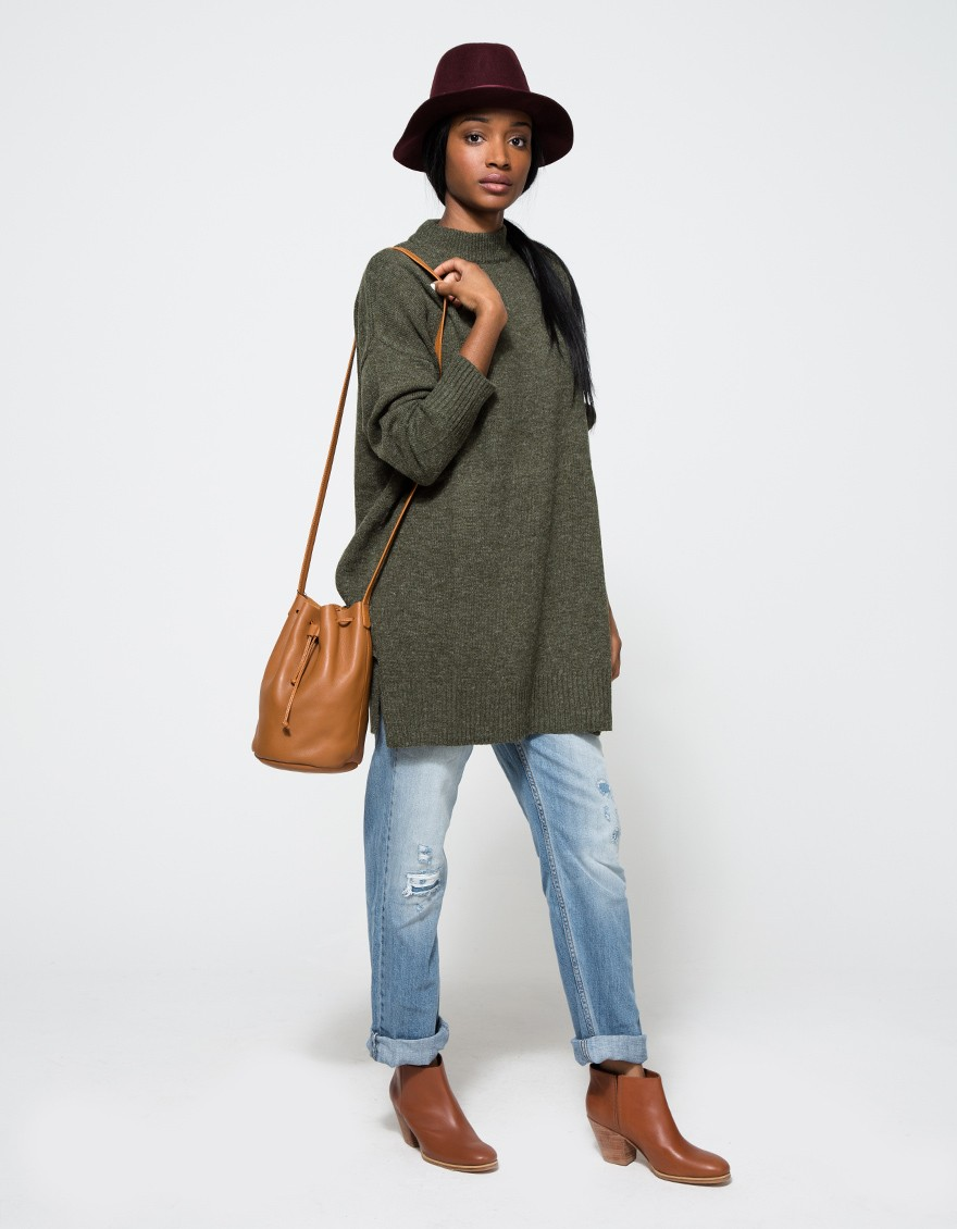 ANNEX SWEATER DRESS IN OLIVE Stelen $88