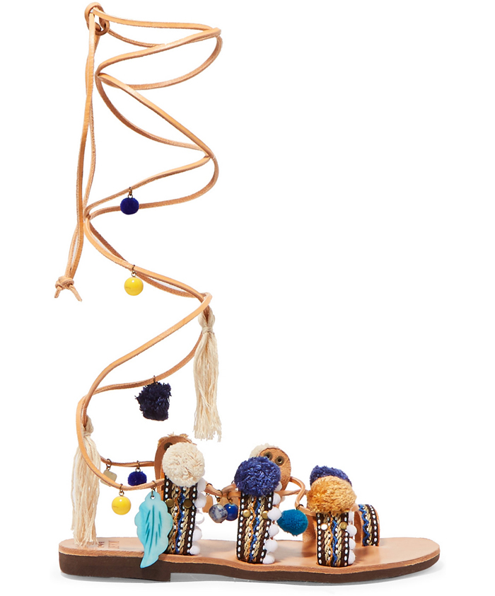 MABU BY MARIA BK Embellished Sandals $200