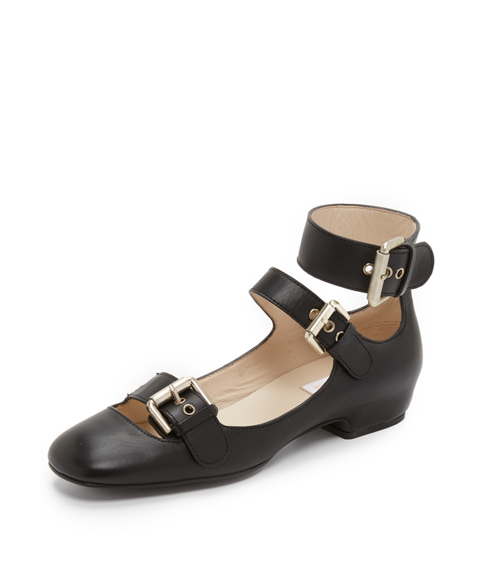 SEE BY CHLOE Polly Buckle Flats $320
