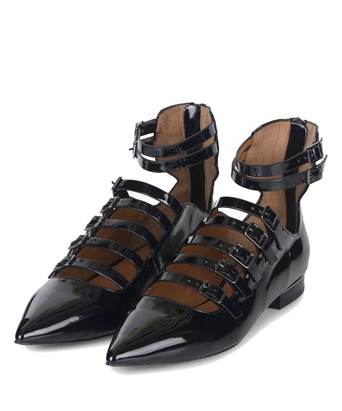 TOPSHOP Patent Buckle Shoe $95