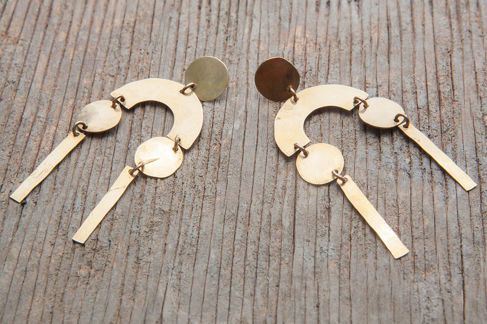GOLDBUG Long Day Earrings $110