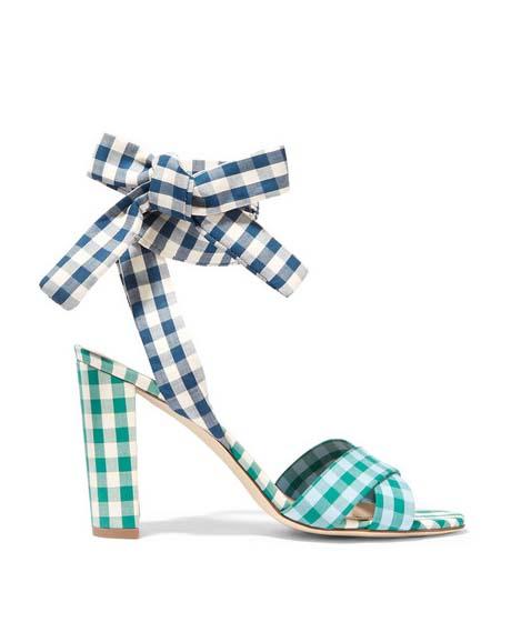 J.CREW Charlotte Gingham Sandals $240