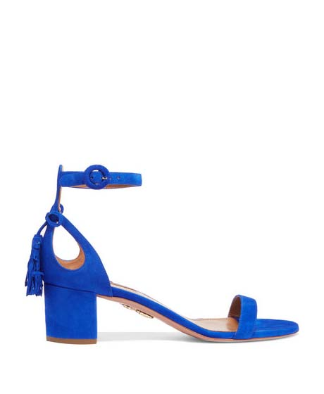 AQUAZZURA Suede Sandals $695