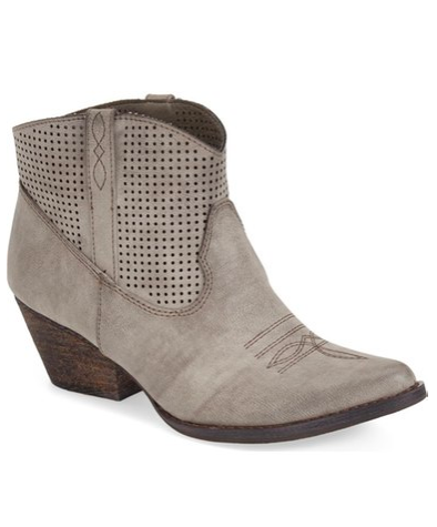 VERY VO  LATILE Mishka Perforated Western Bootie $70