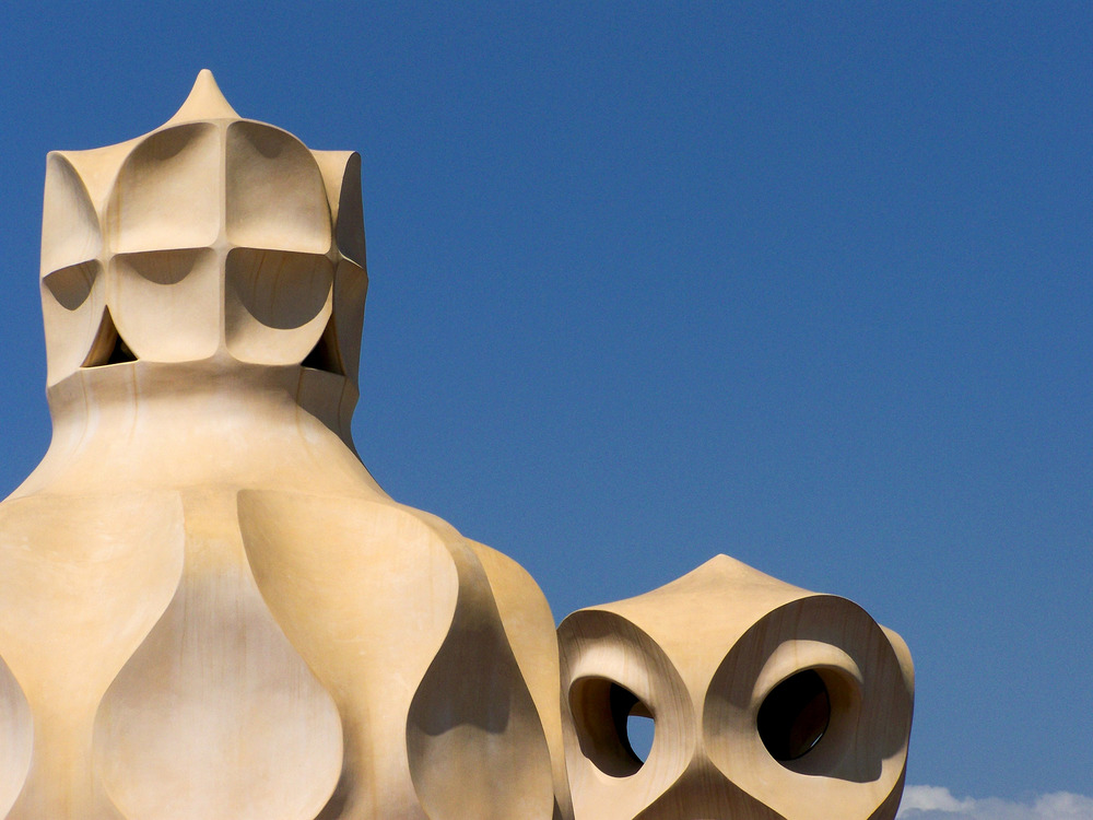 Casa Mila' . Antoni Gaudi'   Barcelona_July 2008