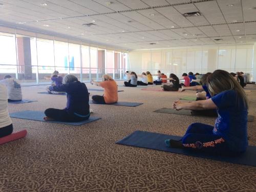 Employee yoga.