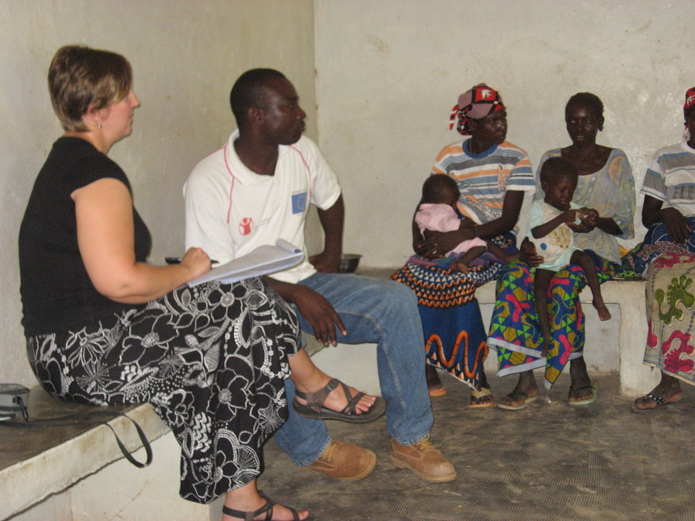 Conducting a focus group in Burkina Faso.