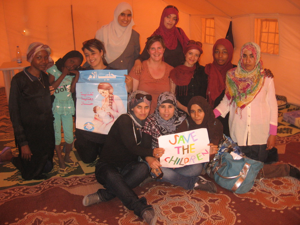 Training staff to run the child nutrition program in a refugee camp on the Tunisian border.